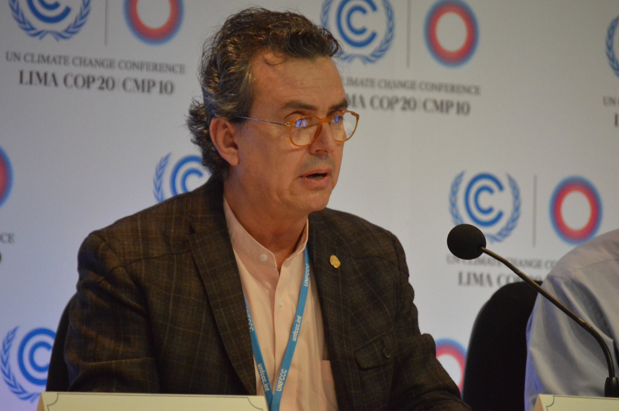 Costa Rica Minister at CVF Press Conference at COP20 - Source: AILAC - copyright 2014 all rights reserved