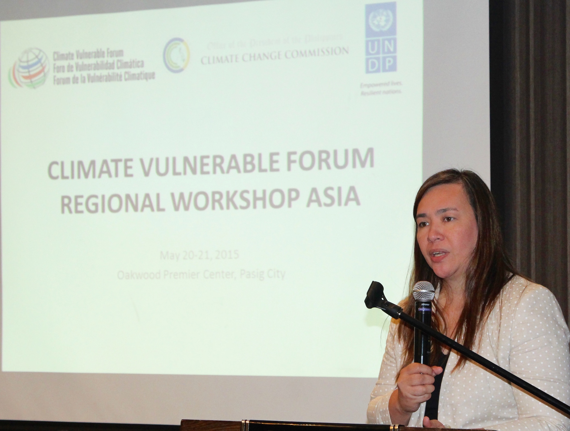 Lucille Sering Closing Asia CVF Regional Workshop 20-21 May 2015 Manila, Philippines - source: CCCPH/CVF license: CC