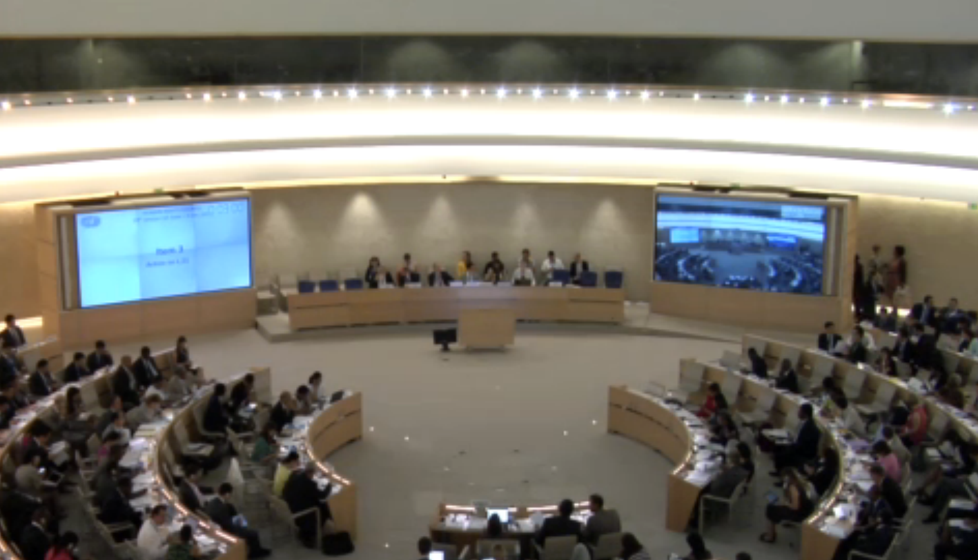 UN Human Rights Council 28th Session: Resolution Climate Change July 2015 UN Web TV