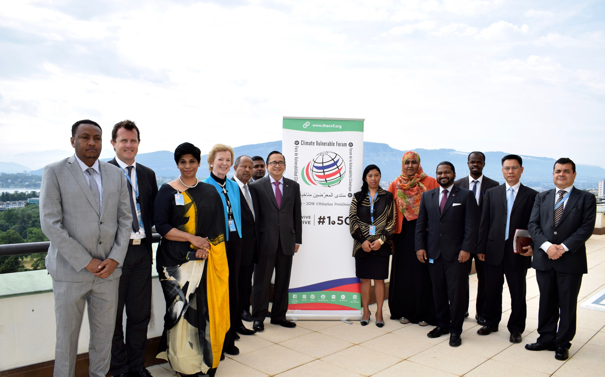 Image of Climate Vulnerable Forum leaders and members.