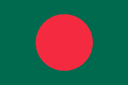 Image of Bangladesh Flag. Bangladesh is one of the participants of Climate Vulnerable Forum