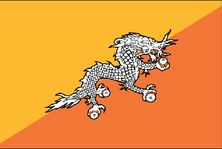 Image of Bhutan Flag. Bhutan is one of the participants of Climate Vulnerable Forum